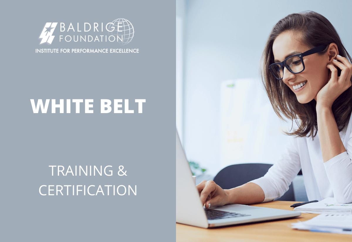 WHITE BELT Baldrige