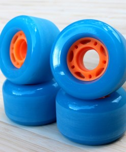 Blue skateboard Cruiser and Longboard wheels