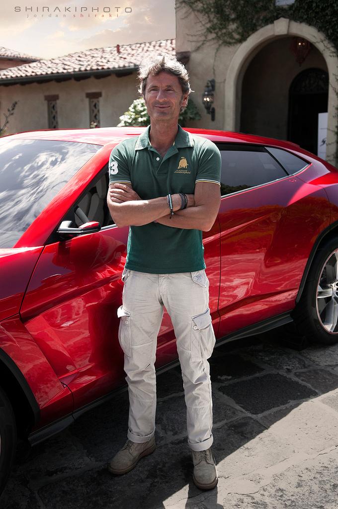 Lamborghini President Stephan Winkelmann in frront of