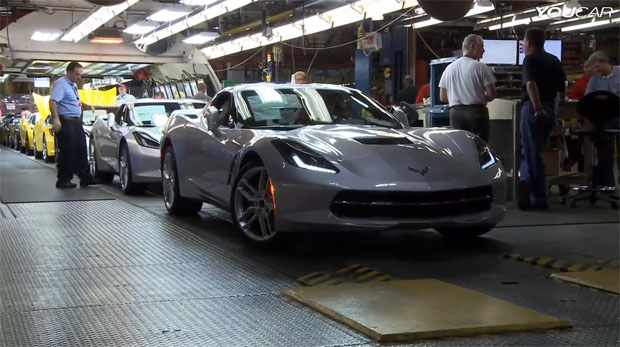 C7 Corvette Stingray Production Line Featured