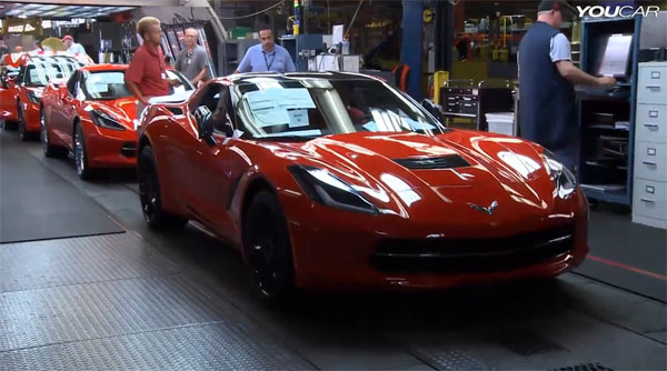 C7 Corvette Stingray Production Line