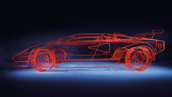The Wireframe Lamborghini Countach By Benedict Radcliffe