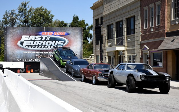 More cars from 'Furious 7' peculiarly parked on a ramp. A sign of things to come?