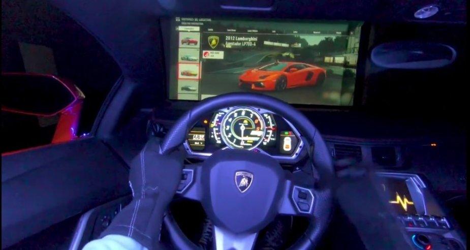 Aventador being used as an Xbox controller