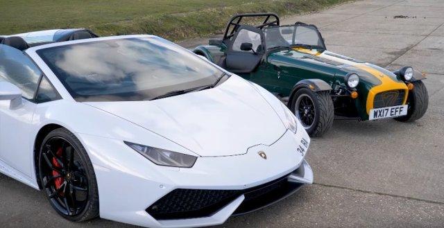 Lamborghini Huracan and Caterham 310R