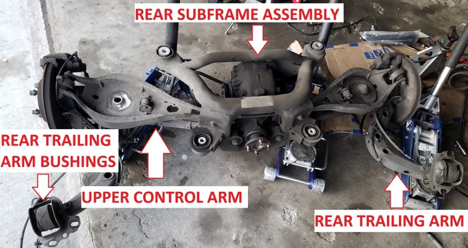 Replacing Trailing    Arm    Bushings on Project BMW E46