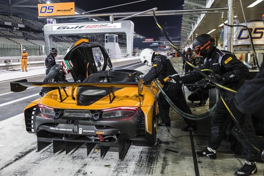 McLaren 720S GT3 Yas Marina Circuit Gulf 12 Hours Endurance Race