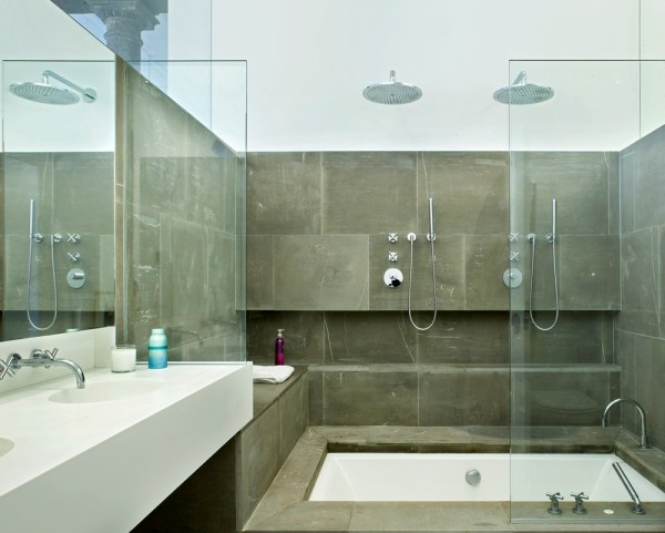 Master Industrial Loft Bathroom
