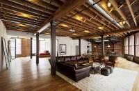 Jane Kim Creates a Rustic Ski Lodge-Like Urban Loft Using ...