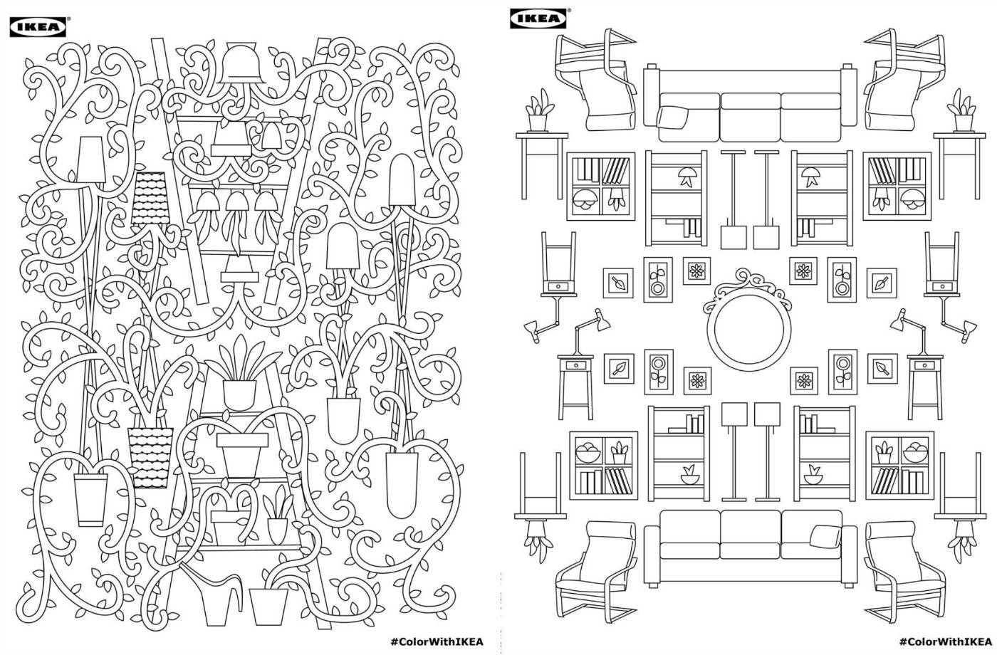 Download Ikea S Adult Coloring Book For Free