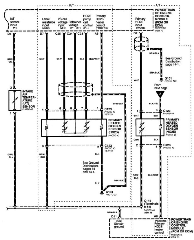 diagram 1999 civic oxygen sensor wiring diagram full