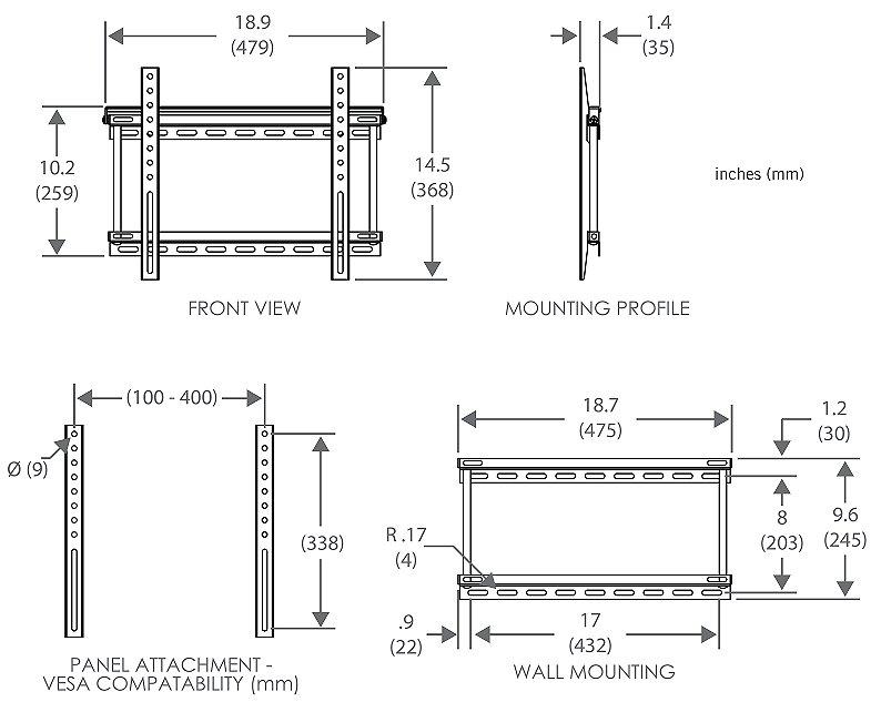 flat panel tv wiring kit