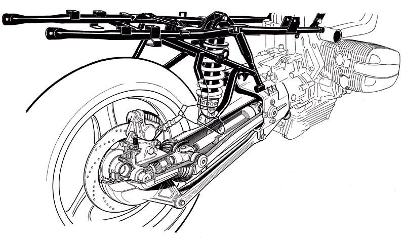 Foto: BMW Hinterachse, Paralever, Zeichnung, 1933 (vergrößert)