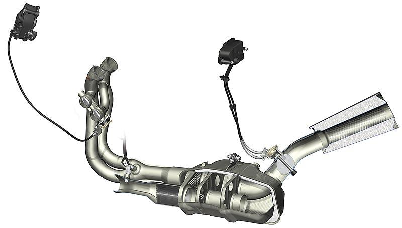 Foto: BMW Motorrad S 1000 RR, Abgasanlage (vergrößert)