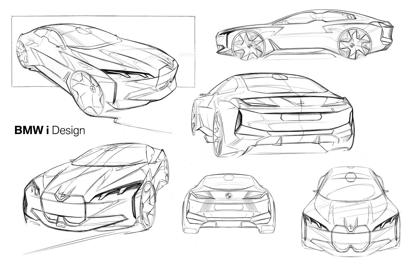 Foto: BMW i Vision Dynamics, Skizze (vergrößert)
