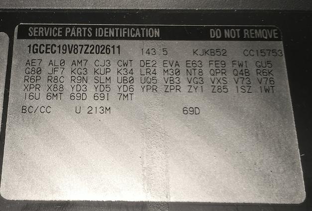 Gm 4l60e Transmission Identification