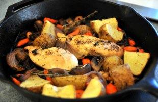 Skillet Herb Roasted Chicken & Vegetables – $10 Or Less Meal