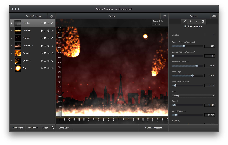 Particle Designer for Mac 2.7 破解版 - 好用的游戏开发粒子效果编辑工具