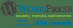 Monthly WordPress Website Maintenance Plans