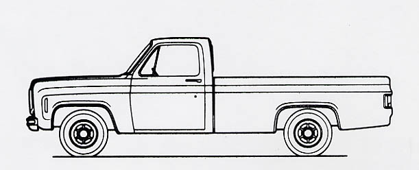 Anyone have a scale drawing of a 73-87 pickup that can be us