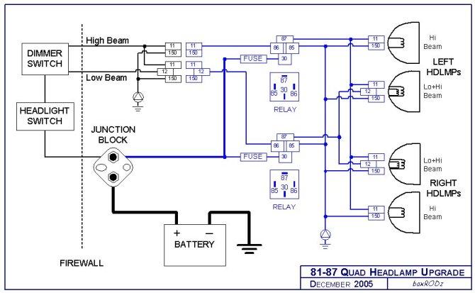 headlight relay harness upgrade
