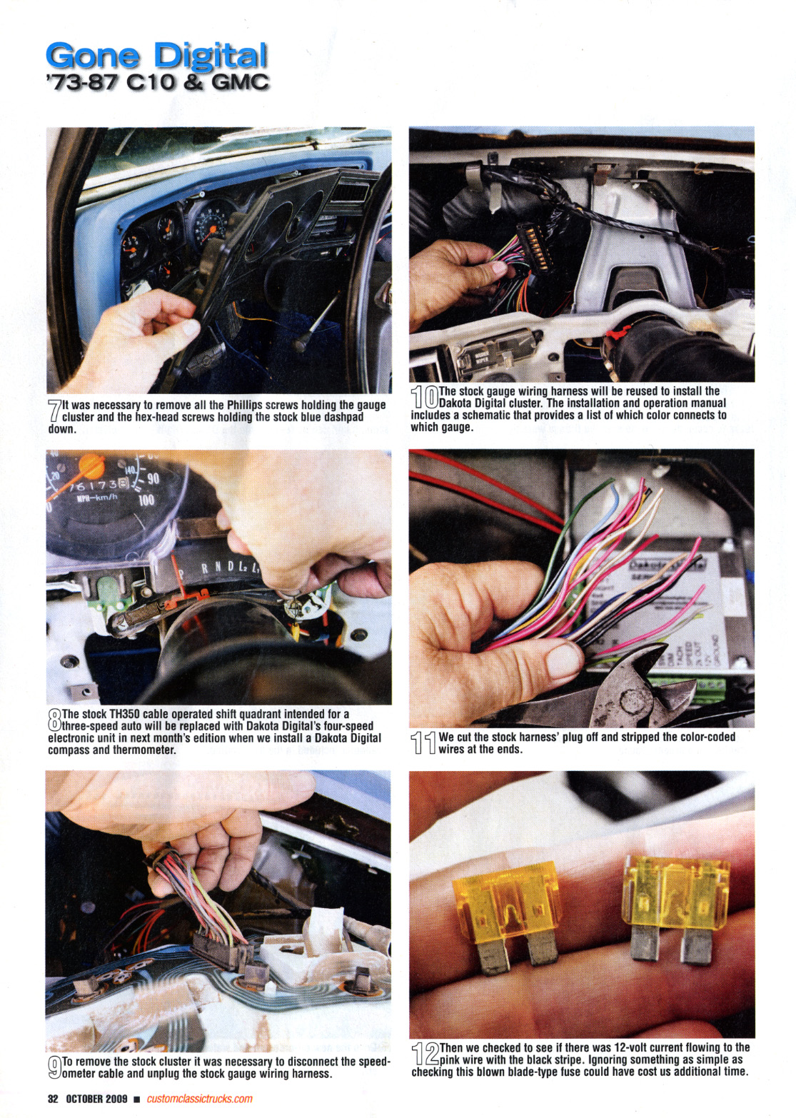 dash wiring for 1986 chevy s 10