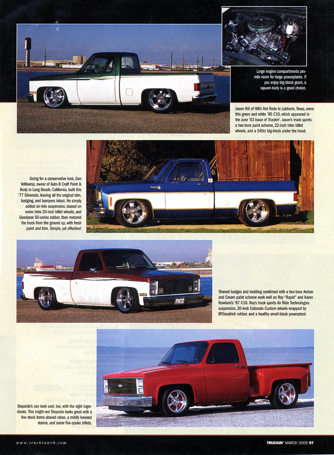 hight resolution of the reemergence of the 73 87 chevy written by travis noack and published by street trucks magazine