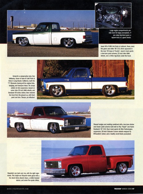 small resolution of the reemergence of the 73 87 chevy written by travis noack and published by street trucks magazine