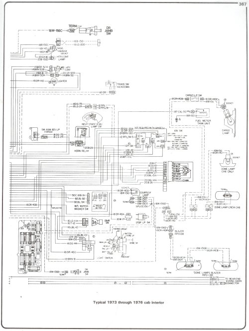small resolution of 73 76 cab interior complete 73 87 wiring diagrams