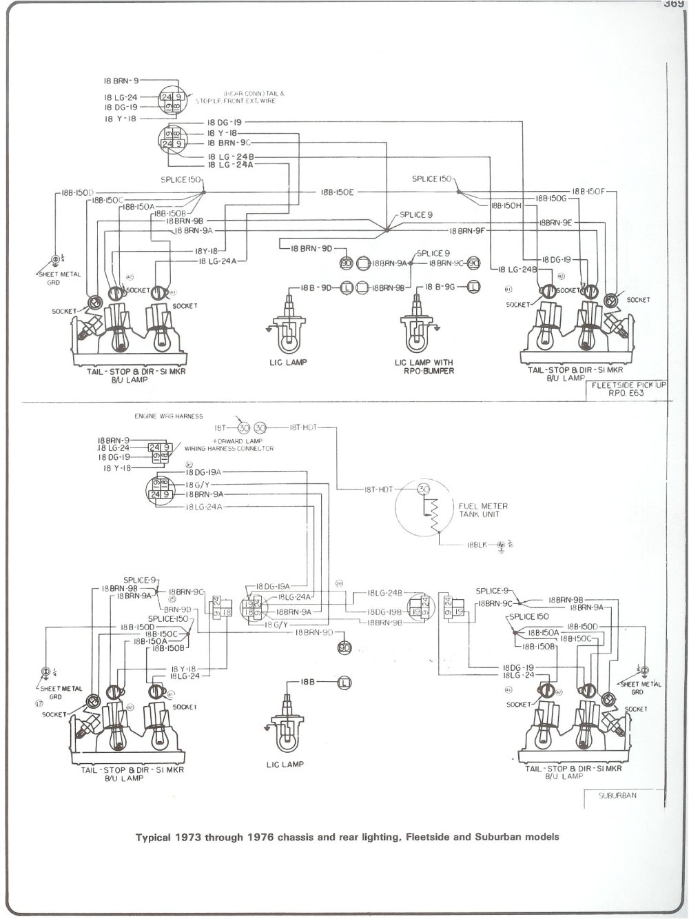 medium resolution of complete 73 87 wiring diagrams 1961 chevy truck wiring diagram 73 76 chassis rear lighting