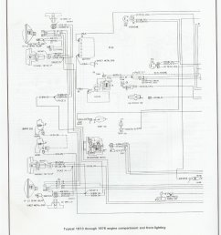 complete 73 87 wiring diagrams 73 76 engine and front lighting [ 1544 x 2003 Pixel ]