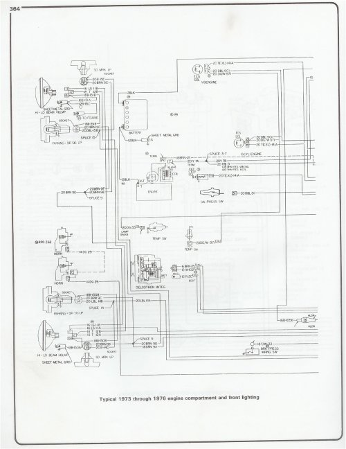 small resolution of 73 76 engine and front lighting complete 73 87 wiring diagrams
