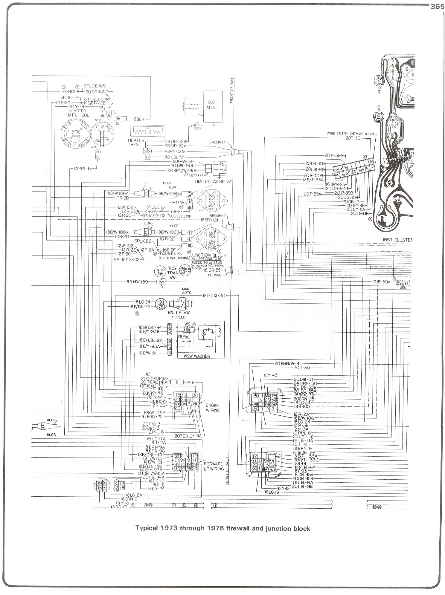 hight resolution of complete 73 87 wiring diagrams gmc wiring diagram 73 76 firewall junction