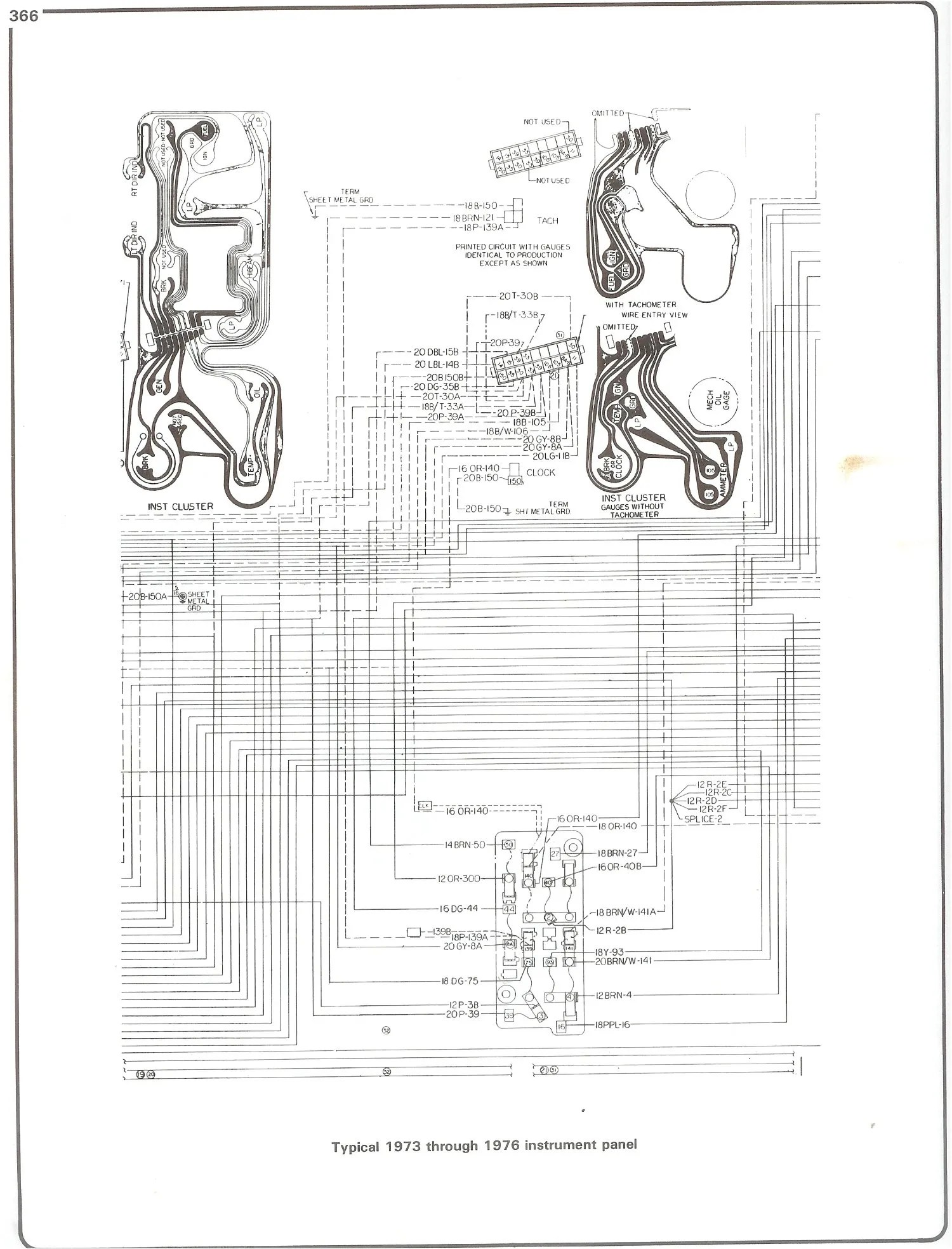 hight resolution of 73 76 instrument cluster complete 73 87 wiring diagrams