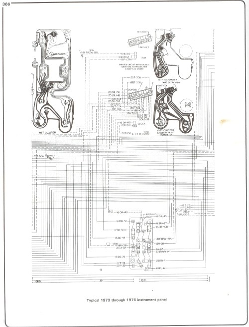 small resolution of 73 76 instrument cluster complete 73 87 wiring diagrams