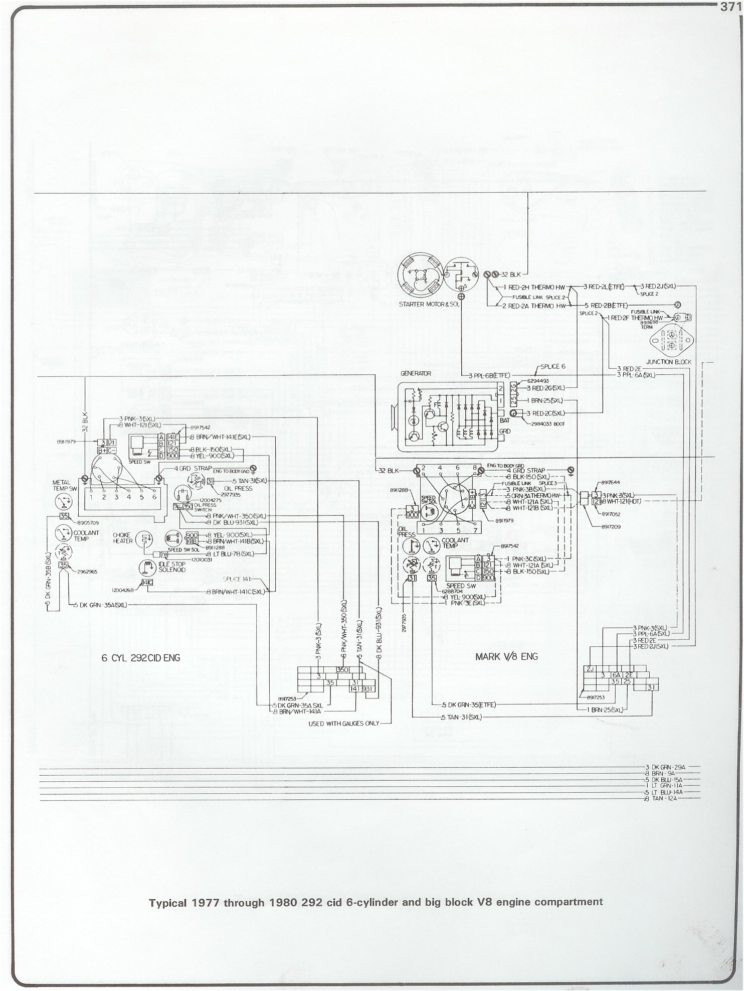 hight resolution of 77 80 292 i6 and bbc engine wiring