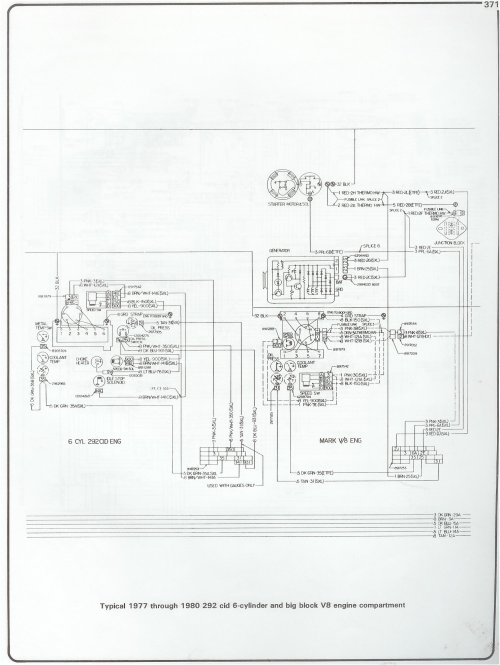 small resolution of 77 80 292 i6 and bbc engine wiring