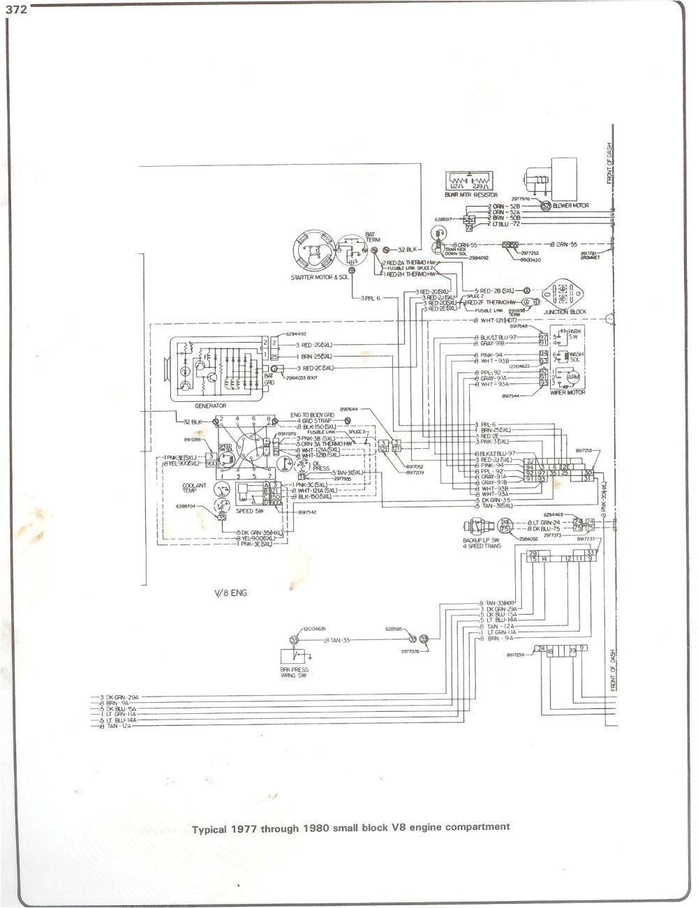 medium resolution of  89 chevy tail light wiring schematic 77 80 sbc engine wiring