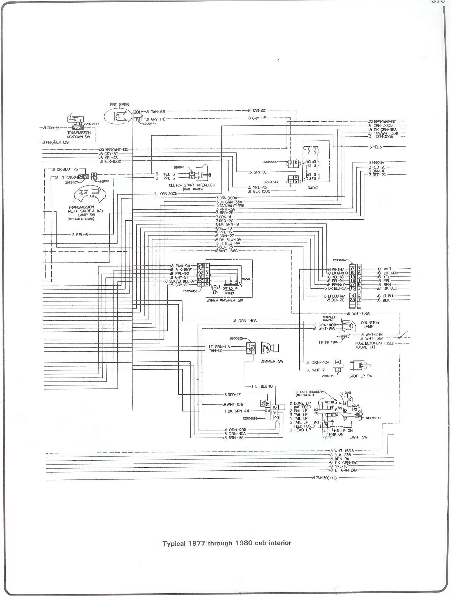 hight resolution of 77 80 cab interior complete 73 87 wiring diagrams 77 80 cab interior gm hei schematic