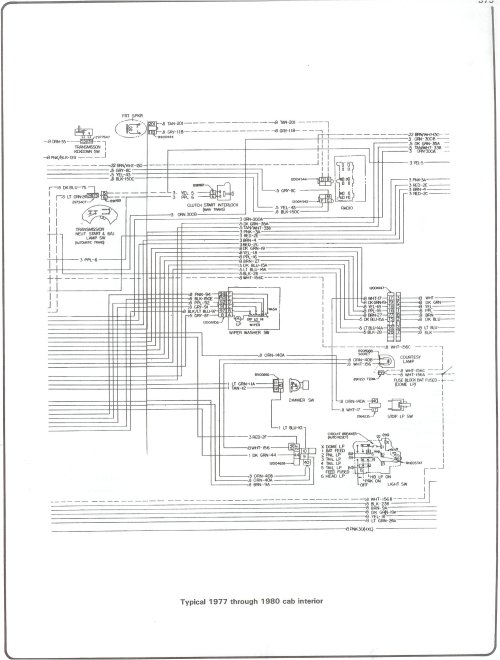 small resolution of 77 80 cab interior complete 73 87 wiring diagrams 77 80 cab interior gm hei schematic