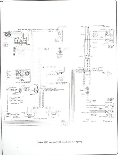 small resolution of 77 80 chassis and rear lighting complete 73 87 wiring diagrams 77 80 chassis and rear lighting 1982 g30 van