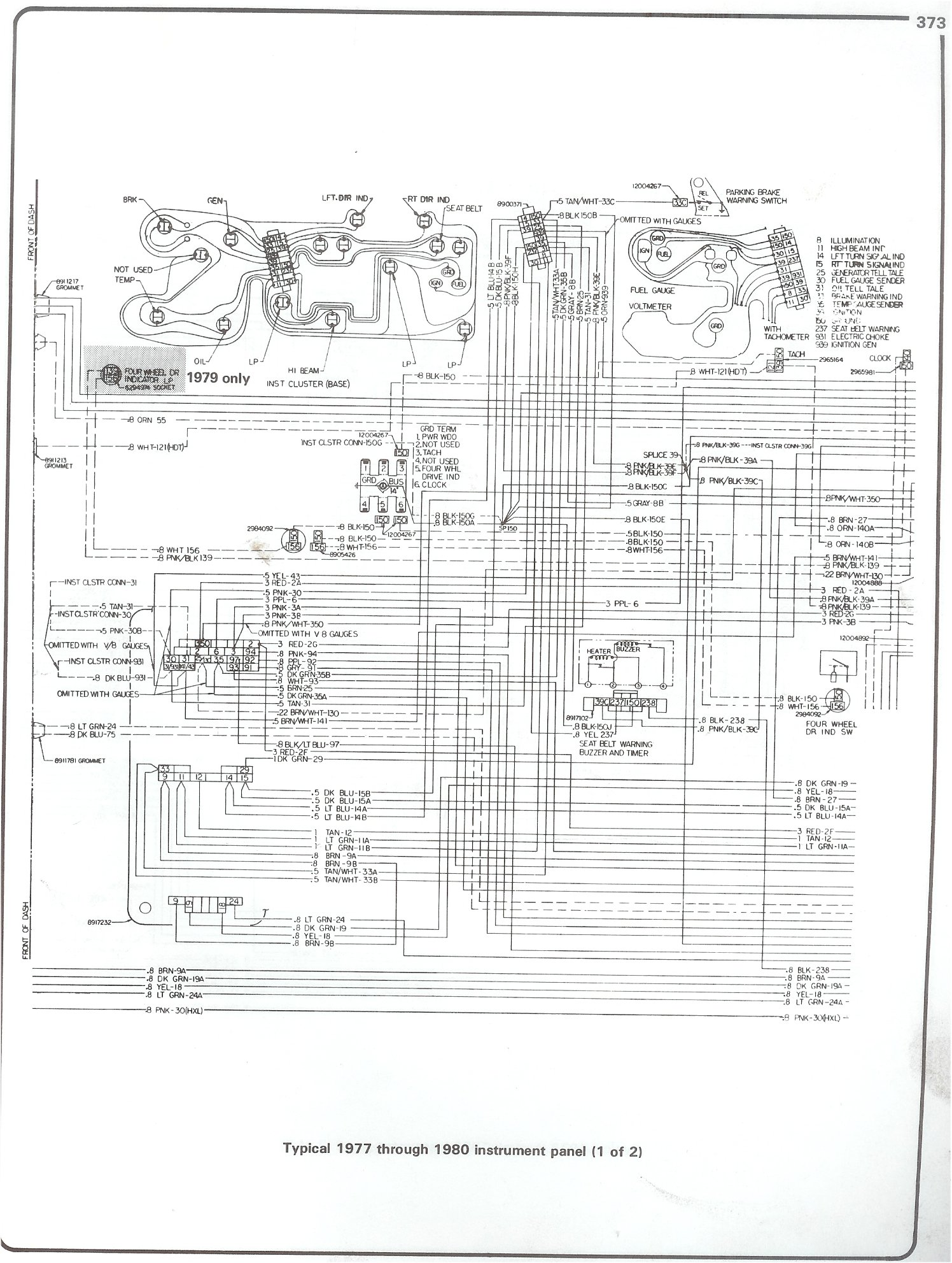 hight resolution of 77 80 intrument panel page 1