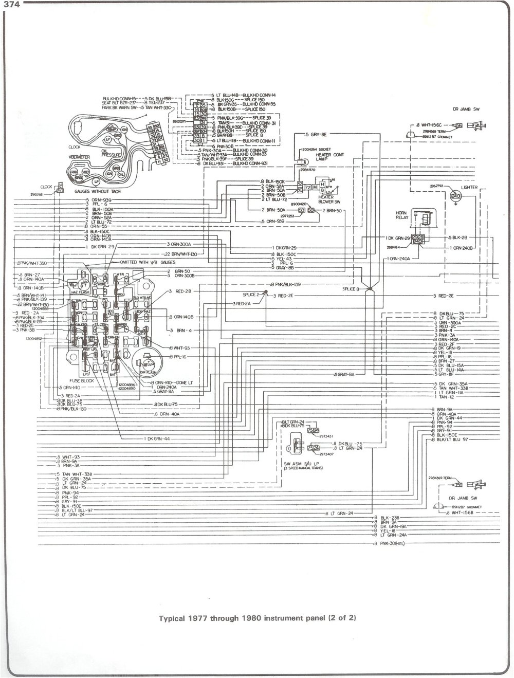 medium resolution of 77 80 intrument panel page 2