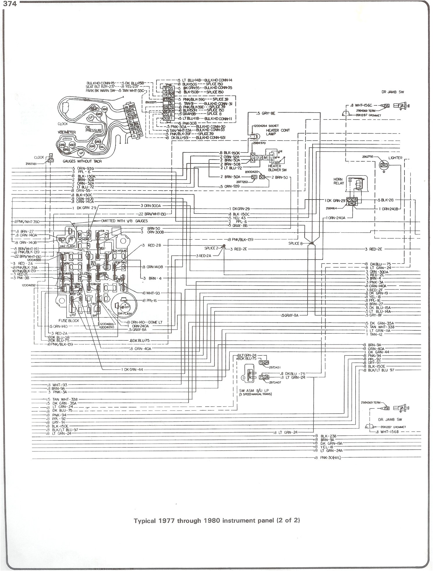 hight resolution of 77 80 intrument panel page 2