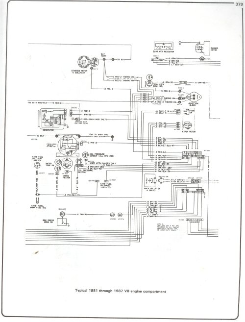 small resolution of complete 73 87 wiring diagrams 1999 suburban radio wiring diagram 81 87 v8 engine compartment