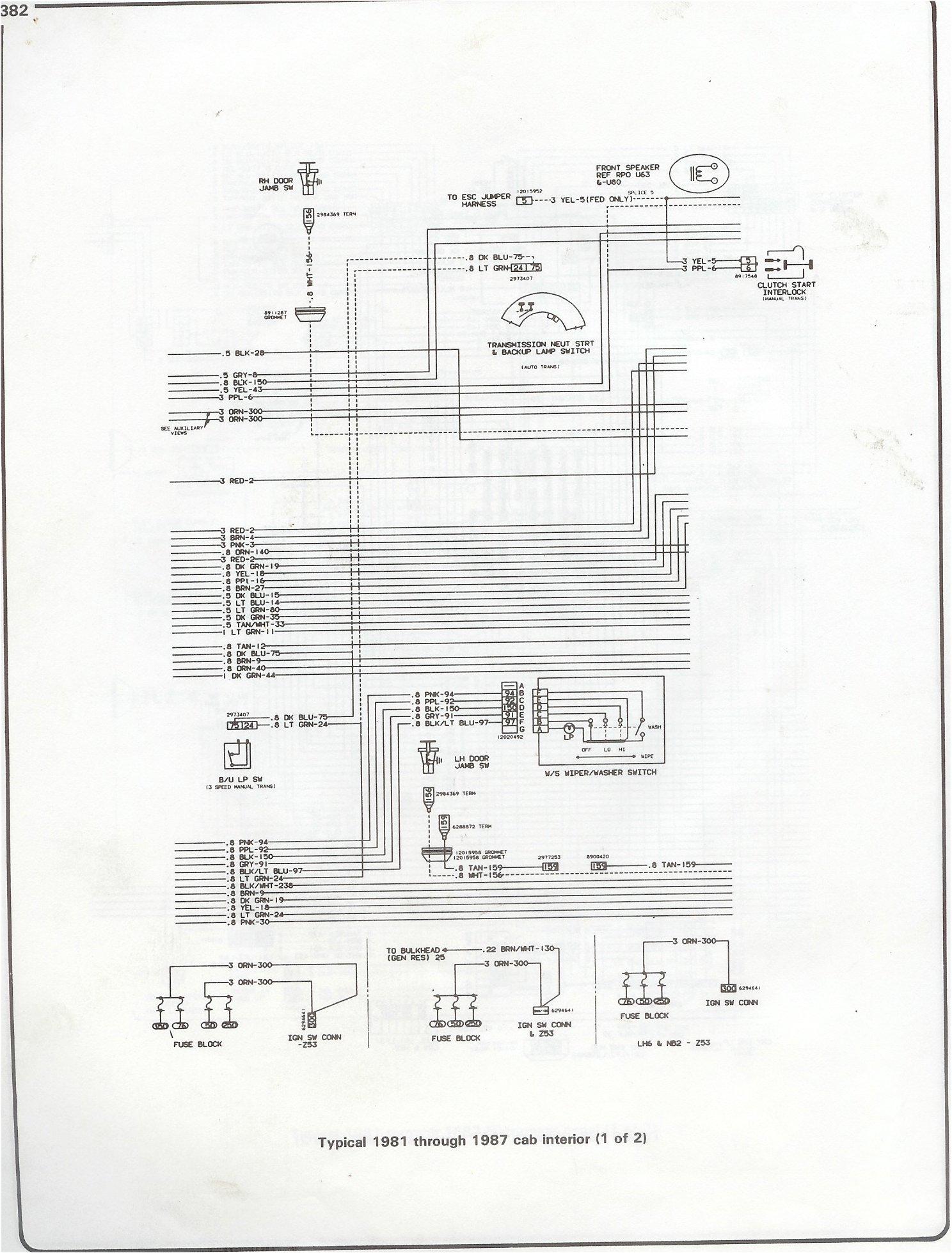 87 chevy truck wiring diagram ladder instrument panel get free