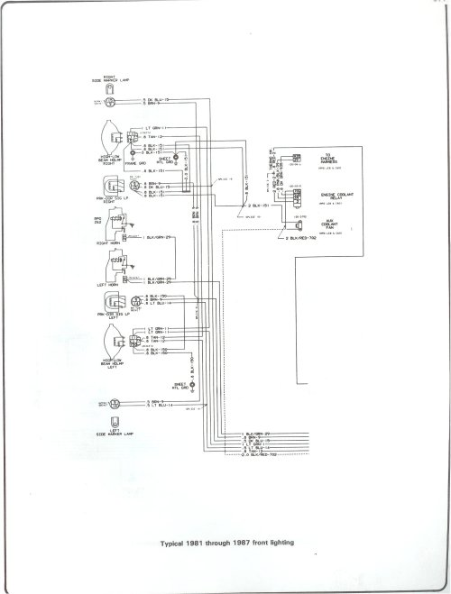 small resolution of 81 87 front lighting complete 73 87 wiring diagrams