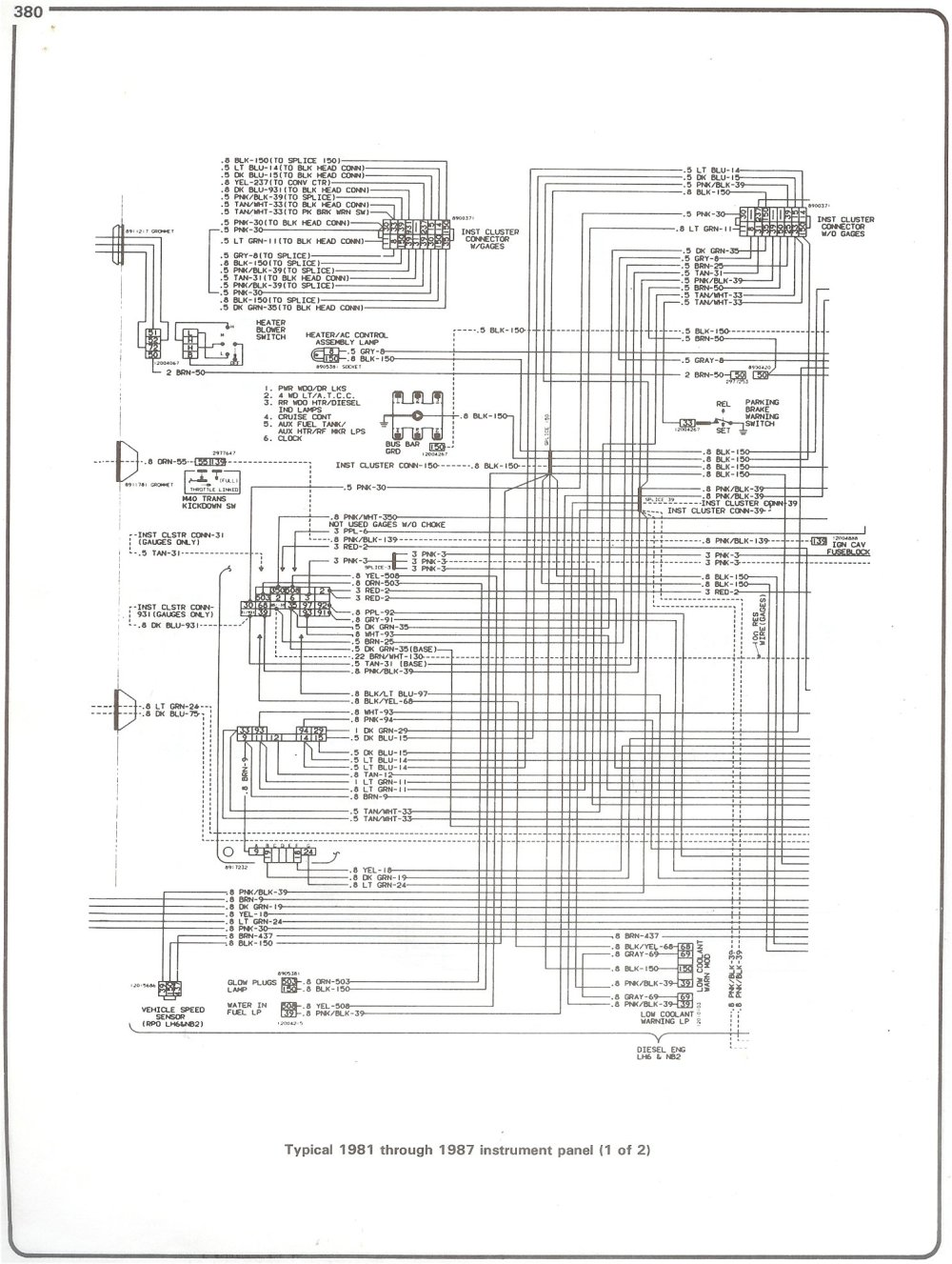 medium resolution of  blazer wiring schematics chevrolet truck schematics wiring diagram complete 73 87 wiring diagrams81 87 instrument panel page 1