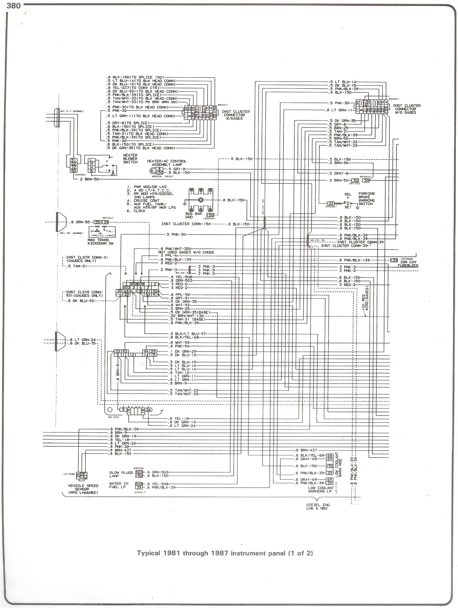 hight resolution of  blazer wiring schematics chevrolet truck schematics wiring diagram complete 73 87 wiring diagrams81 87 instrument panel page 1
