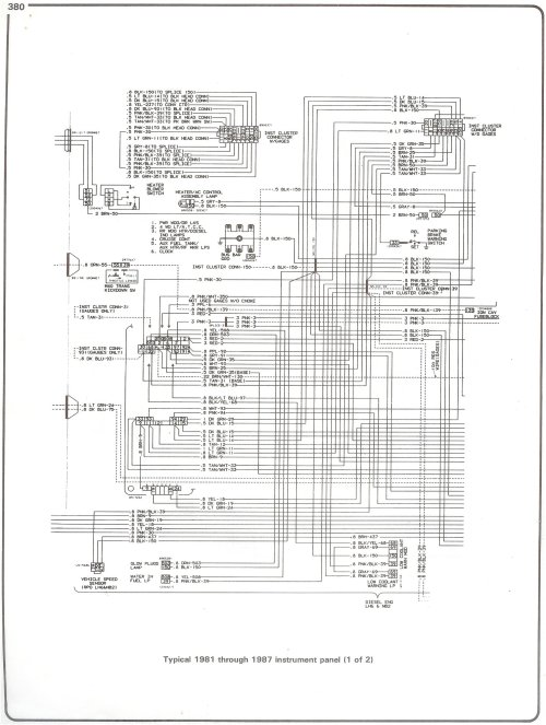 small resolution of  blazer wiring schematics chevrolet truck schematics wiring diagram complete 73 87 wiring diagrams81 87 instrument panel page 1